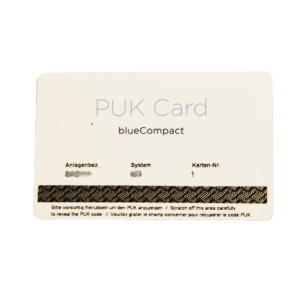 Bluecompact PUK card