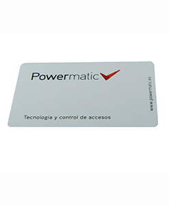 tarjeta de proximidad powermatic