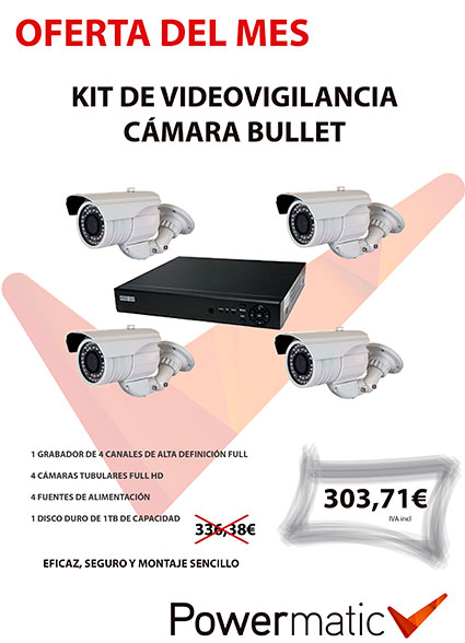 oferta del mes POWERMATIC kit de cámaras